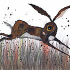 DASHING HARE by Hares and Critters