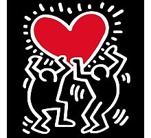 Keith Haring Big Love Photographic Print