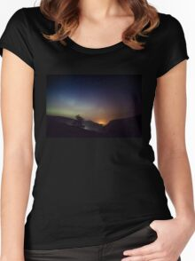 Aurora over Glengesh, Donegal Women's Fitted Scoop T-Shirt