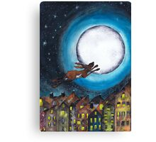 FLYING HARE Canvas Print