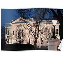 White House At Dusk Poster