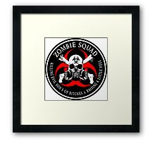 Biohazard Zombie Squad 4 Ring Patch outlined 2 9 Framed Print