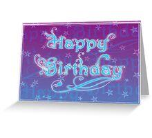 Birthday with a flourish Greeting Card