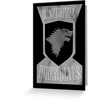 Winterfell Direwolves Greeting Card