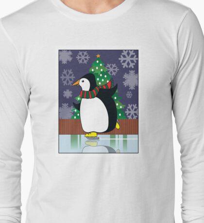 Penguin Skate Long Sleeve T-Shirt