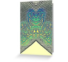 Capture the Lady Blue Rose Greeting Card