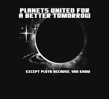 Power to the Planets. Womens Fitted T-Shirt