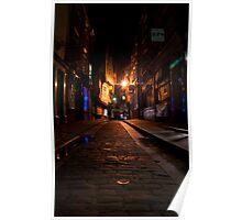 The Shambles at Night, York Poster