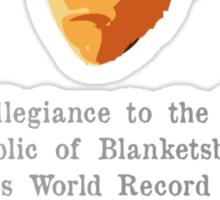 The Legit Republic of Blanketsburg Sticker