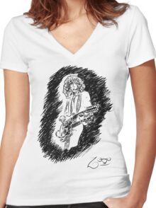 sir Jimmy Page Women's Fitted V-Neck T-Shirt