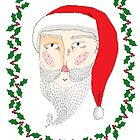 Santa Christmas Illustration by julieannemcmaho