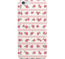 Shabby Chic, Stripes, Dots, Roses - Pink Red Green  iPhone Case/Skin