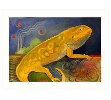 Fluffy the Bearded Dragon Rest In Peace Art Print