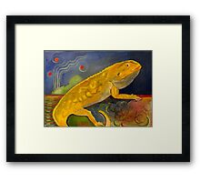 Fluffy the Bearded Dragon Rest In Peace Framed Print