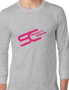 Sporty Chicks Logo T/Hoodie/Stickers Long Sleeve T-Shirt