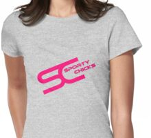 Sporty Chicks Logo T/Hoodie/Stickers Womens Fitted T-Shirt