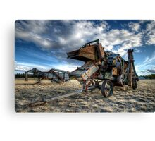 Threshers On Display Canvas Print
