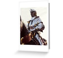 Knight In Shining Armour Greeting Card