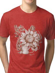 Smiling flowers Tri-blend T-Shirt