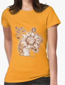 Smiling flowers Womens Fitted T-Shirt