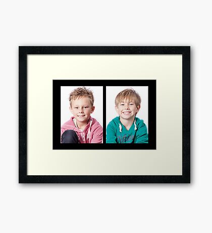 The Boys! Framed Print