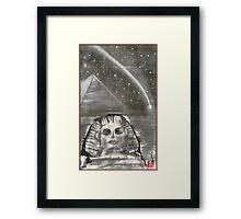 Sphinx and Pyramid I Framed Print