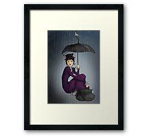 Mary Poppins in the Rain Framed Print
