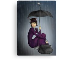 Mary Poppins in the Rain Canvas Print