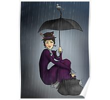 Mary Poppins in the Rain Poster