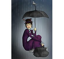 Mary Poppins in the Rain Photographic Print
