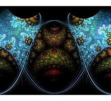 Fractal Blues and Greens Photographic Print