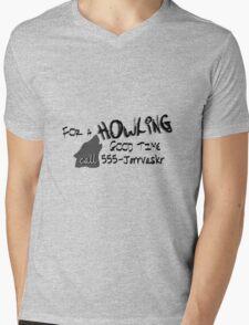 Howling Good Time Mens V-Neck T-Shirt