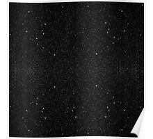 Black & White Majestic Starry Nebula Night Poster