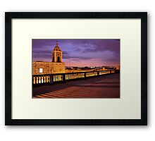 Painted Sunset above the Terrace Framed Print