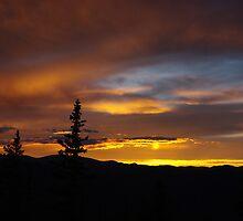 Sun reflection, Rocky Mountains, Colorado by Claudio Del Luongo