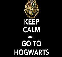 Keep Calm and Go To Hogwarts (Harry Potter) - Iphone Case  by sullat04