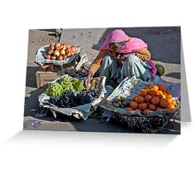 Fruit Lady Greeting Card
