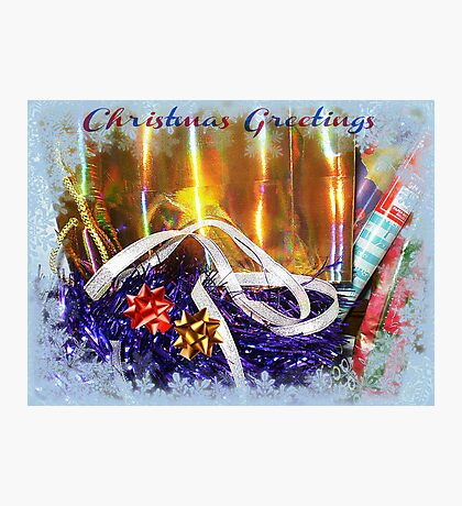 Getting ready for Christmas Photographic Print