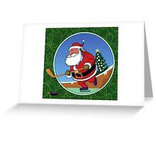 Santa Hockey Greeting Card