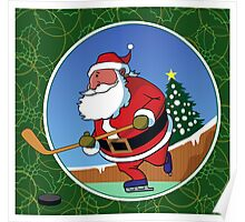 Santa Hockey Poster