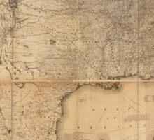 The Washington Map of the United States (1861) Sticker