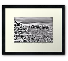 Equipment...old and new Framed Print