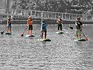 Paddle boarding by awefaul