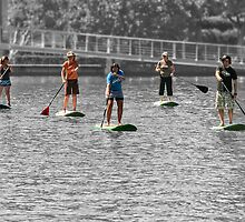 Paddle boarding by awefaul