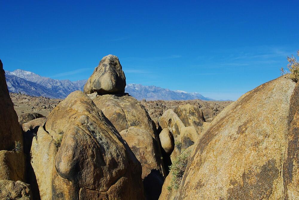 Alabama Hills and Sierra Nevada, California by Claudio Del Luongo
