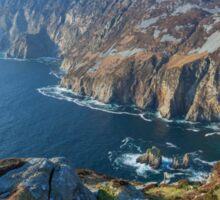 Sliabh Liag sea cliffs in Co. Donegal Sticker