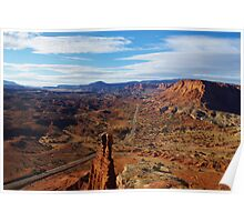 Tower Rock and Highway Poster