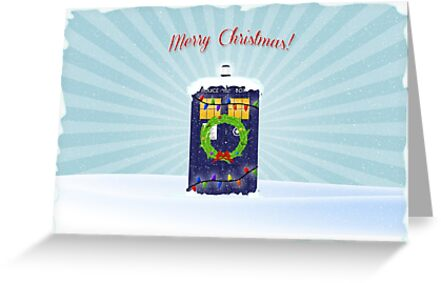 T.A.R.D.I.S Christmas Greeting Card by finnickodair