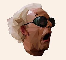 Doc Brown - Back to the Future   Christopher Lloyd Low Poly by voyagr