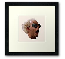 Doc Brown - Back to the Future | Christopher Lloyd Low Poly Framed Print